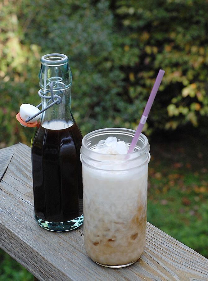 Lavender coffee syrup made with coconut sugar. Try making this in the slow cooker!