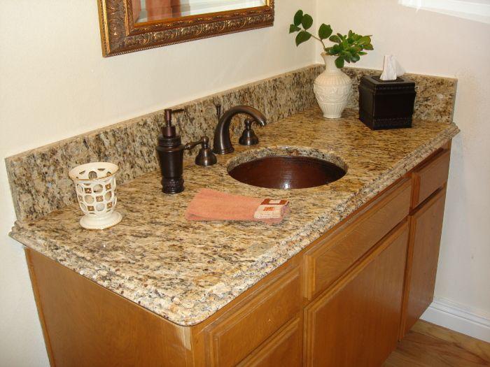 with bathroom counter dark installer cabinets home beige countertops top sinks granite phoenix az