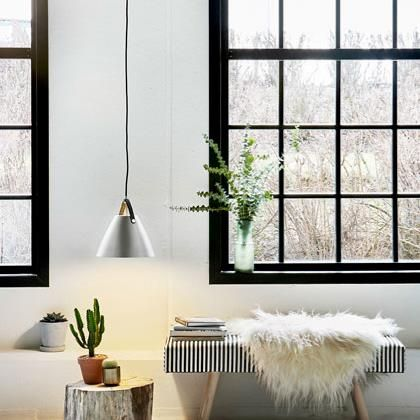 270mmm Strap Hanging Light by Nordlux - Comes with both natural and black leather straps to coordinate anywhere.