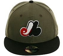 New Era 2Tone Montreal Expos Fitted Hat - Olive, Black