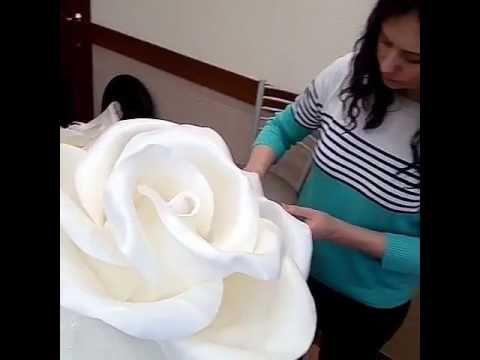 (8) Школа больших цветов Светланы Копцевой . ростовые цветы, цветы из изолона - YouTube