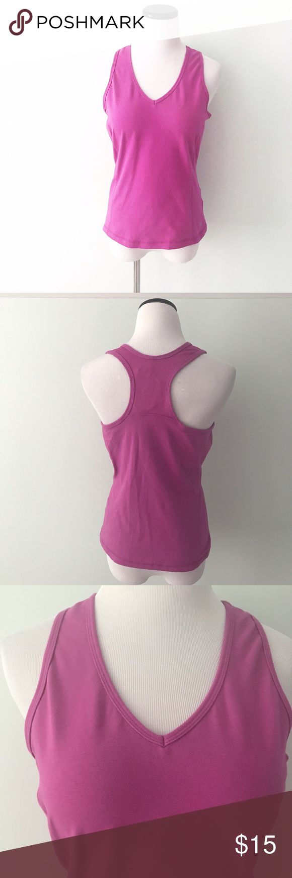 NWT Athletic Works Pink Gym Tank Top New with tags. Has built in shelf bra. Racerback design. Athletic Works Tops Tank Tops