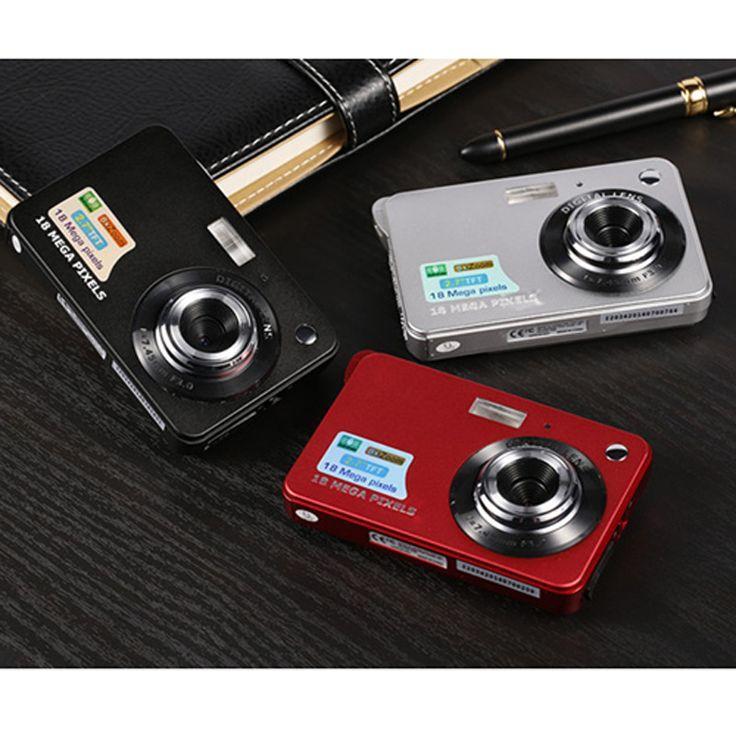 18MP 720 P Мини Цифровая Камера 8-кратным Зумом Цифровая Фоторамка 2.7 дюймов COMS HD Видео Записи 3 Цветов