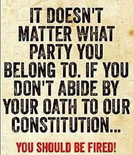 It's called an oath of office for a reason. Trump doesn't respect the rule of law or the Amendments so it applies to his dumb ass too.
