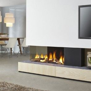 Contemporary gas fires and Gas fireplace inserts