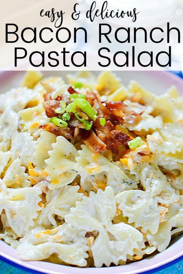 Bacon Ranch Pasta Salad – Lieblingsrezepte – #Favorit #Nudelsalat #Ranch #Reci … – #Favorit …   – Pasta Ideen