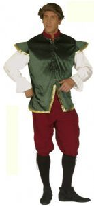 green romeo mens jacket | Medieval Romeo Costume- Men's Medieval Fancy Dress Costume