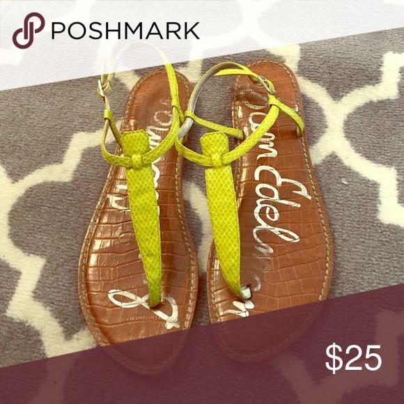 Python neon sandal Python print neon yellow Sam Edelman sandal Sam Edelman Shoes Sandals