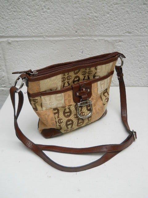 Unique Roomy Etienne Aigner Trimmed Fabric Shoulder Bag   Clothing, Shoes & Accessories, Women's Handbags & Bags, Handbags & Purses   eBay!