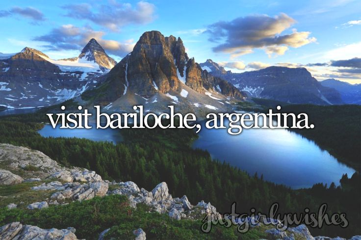 "Bucket list: Visit Bariloche, Argentina""San Carlos de Bariloche, usually known as Bariloche, is a city in the province of Río Negro, Argentina, situated in the foothills of the Andes on the southern shores of Nahuel Huapi Lake. It is located within..."