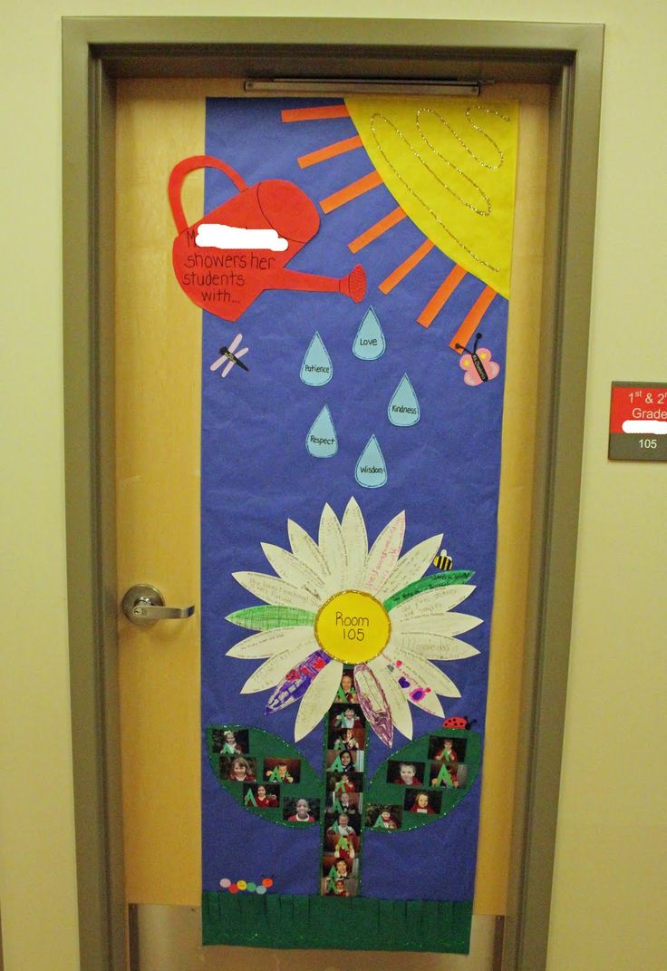 I like how the door is decorated makes me want to wonder whats inside of the classroom.