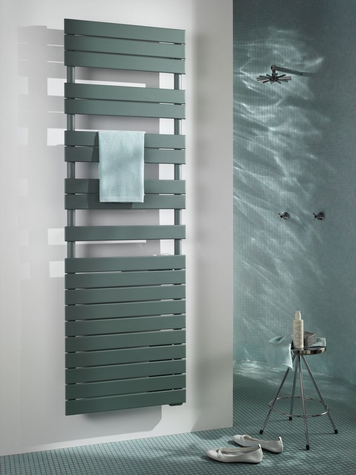 Towel rails don't have to chrome or white.