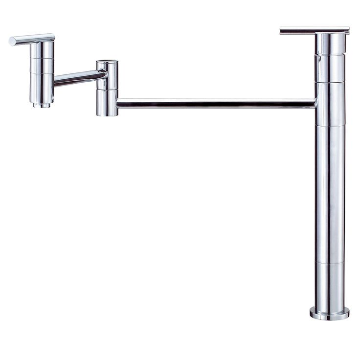 Danze Parma Chrome Deck Mount Modern Pot Filler Faucet