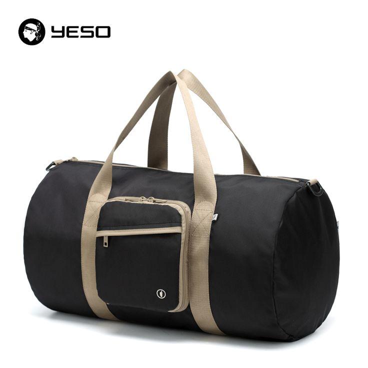 Impermeable de nylon bolso de mano bolso de mano plegable de lona hombres de las mujeres de gran capacidad del viaje del equipaje plegable bolsas de hombro mensajero yeso