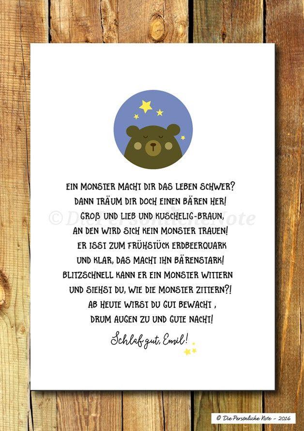 Druck/Wandbild: Traumbewacherbär fürs Kinderzimmer