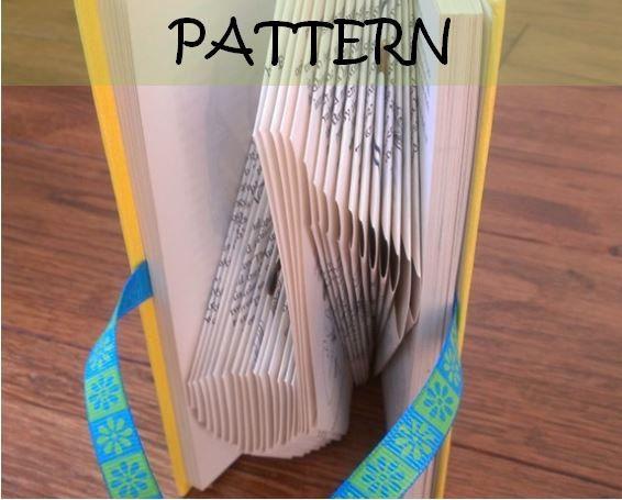 Book folding Pattern MUSICAL NOTE design by TheFoldedBookCompany, £6.00