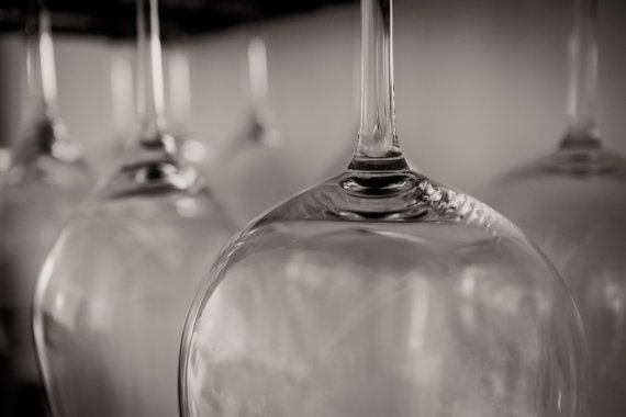 Black And White Wine Wall Decor : Black and white wine glasses lovers photography art