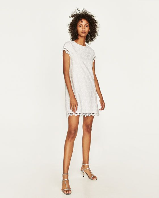 ZARA - WOMAN - EMBROIDERED SHIFT DRESS