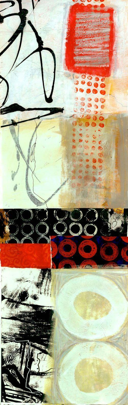 collage journeys: Vertical Experiments, Jane Davies