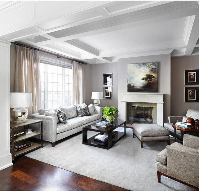 Living Room. Living Room Decor. Gray Living room with transitional decor. #LivingRoom