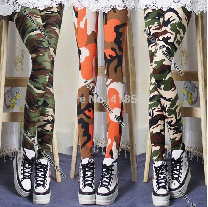 Günstige Weichen Einzigartige Dame Camouflage print leggings Hosen Armee  Hosen Stretch Leggings für mädchen Graffiti Stil, Kaufe Qualität  Leggings ...