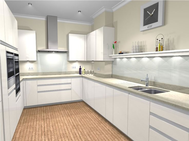 U shaped kitchen designs white high gloss google search for Kitchen design 10 5 full patch