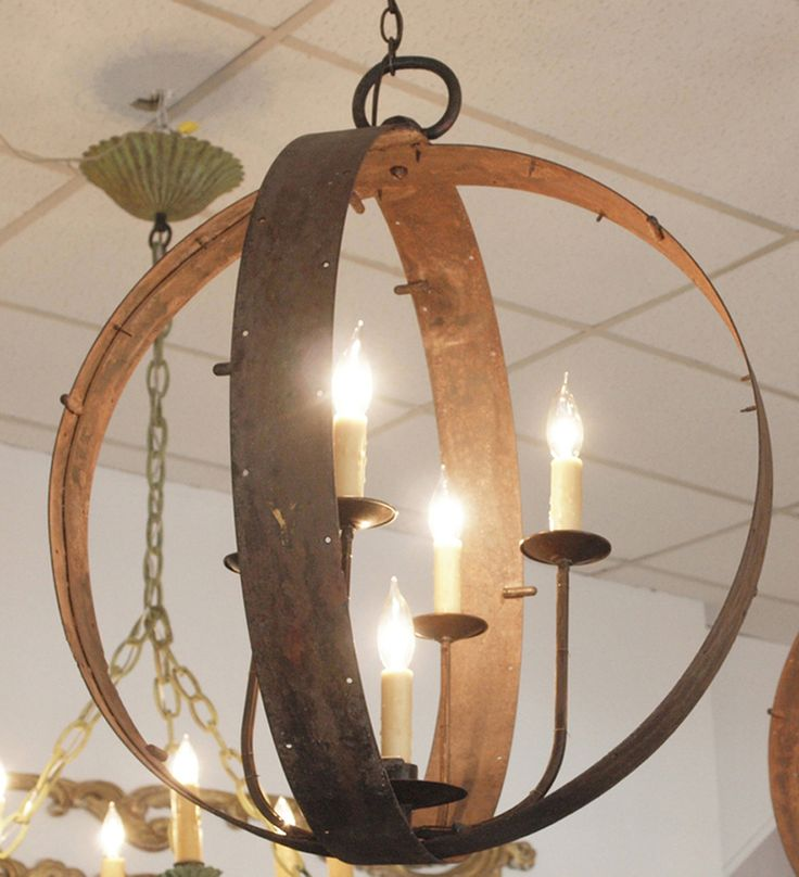 1stdibs | Italian Chandelier made of 19thc Industrial Iron