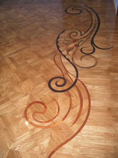 370 best images about awesome floor design on pinterest for Inlaid wood floor designs
