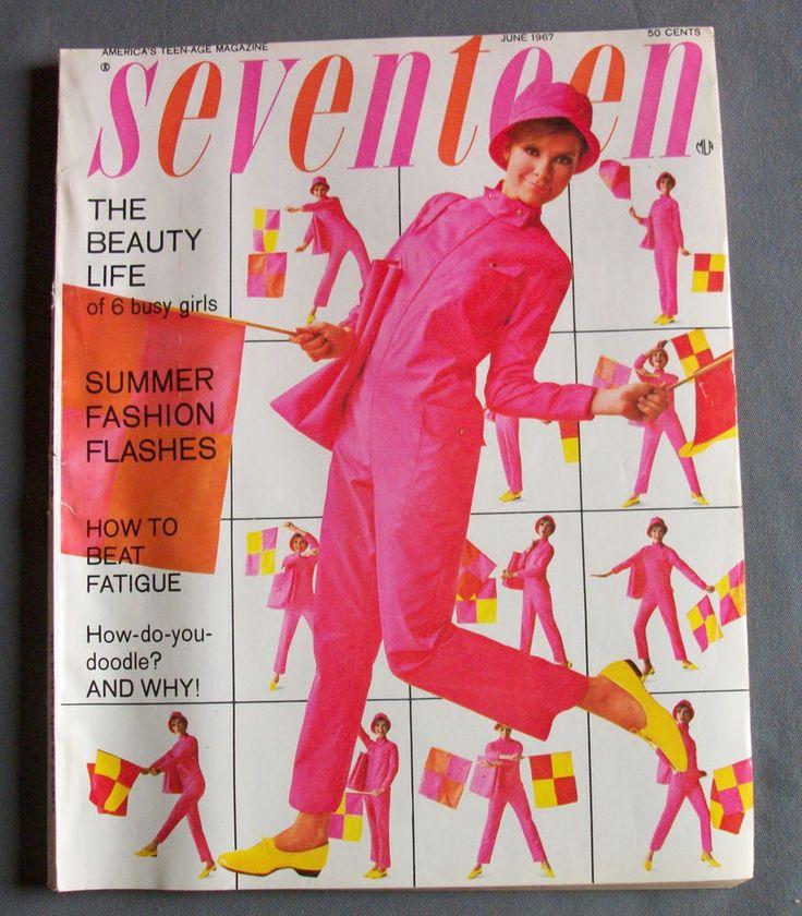 Vintage SEVENTEEN Magazine June 1967 Mod Teen Summer Fashion Advertising 60s VG+