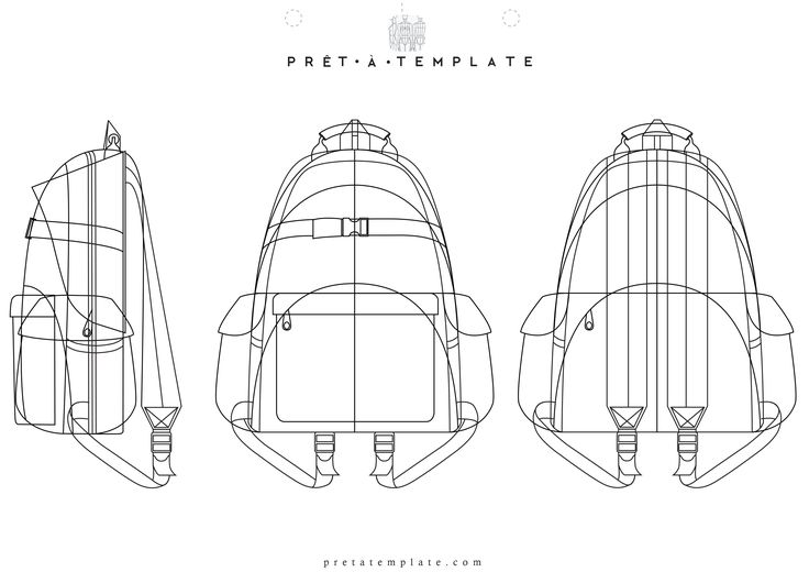 Backpack figure fashion template (D-I-Y your own Fashion Sketchbook)