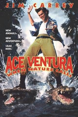 #196. Ace Ventura: When Nature Calls, February, 2014. Legendary pet detective Ace Ventura returns when he's coerced out of retirement while on a soul-searching retreat in the Himalayas. He must now retrieve an endangered white bat from a village located in Africa. The sacred animal was offered up as a wedding dowry from the Wachootoo prince to the Wachati princess, and, if Ace can't track down the culprit behind the kidnapping in time, civil war will break out between the two rival tribes.