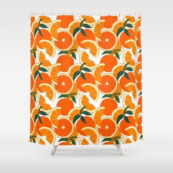 Orange And Grey Shower Curtain With Chevron Towel I Have This