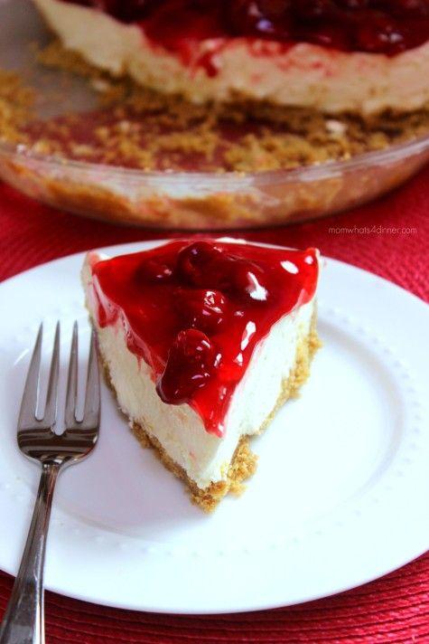 No-Bake Lemon Jello Cheesecake on http://momwhats4dinner.com/no-bake-lemon-jello-cheesecake/
