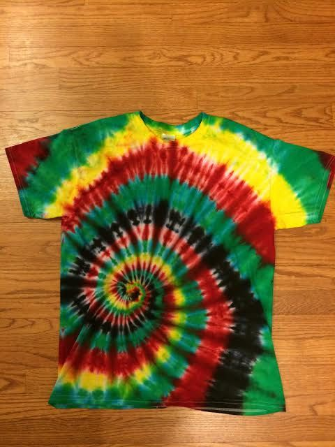 Handmade Rasta/Jamaican Tie Dye Shirt by CarlysCrazyColors on Etsy