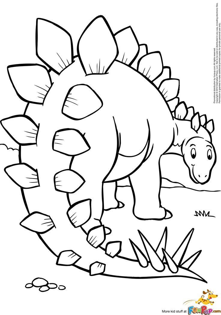 Stegosaurus $0.00 | Coloring books, Coloring pages ...