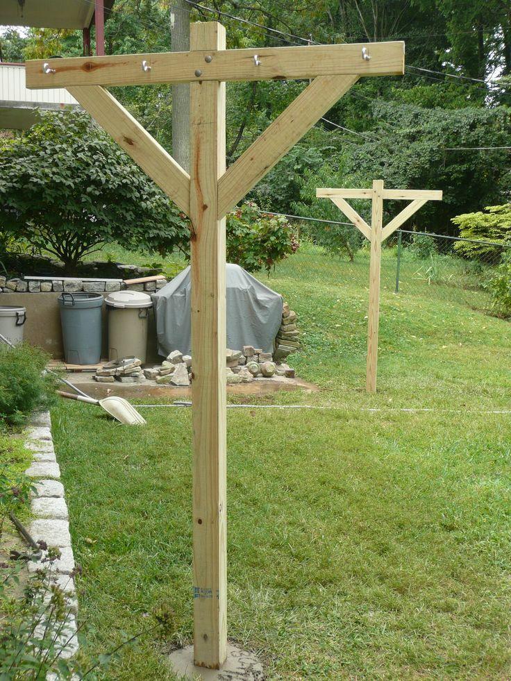 DIY clothesline posts                                                                                                                                                     More