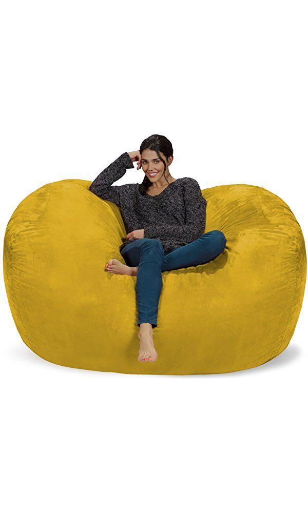 Chill Sack Bean Bag Chair: Huge 6' Memory Foam Furniture Bag