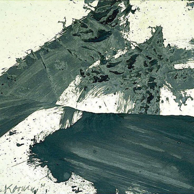 Inspiration: Willem de Kooning, Black And White, Rome, Ink On Paper.