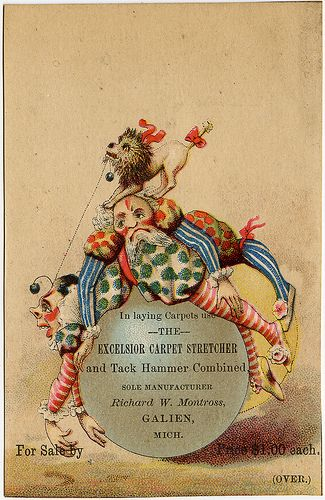 Trade Card for Carpet Stretcher and Tack Hammer