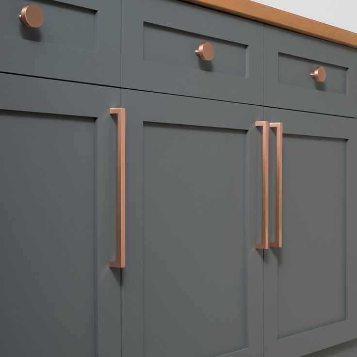 Edgecliff Pull   Satin Copper. Kitchen Cupboard HandlesKitchen ...