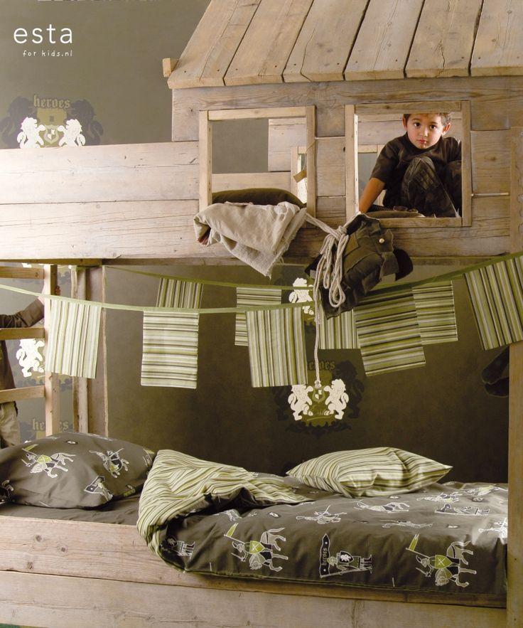 single duvetcover set Knights army green Hearts & Heroes 154920 #dekbedovertrek #Bettwäsche #housse de couette #duvet cover #funda nórdica #copripiumino #ridders #legergroen #Knights #armygreen #Ritter #Armeegrün #chevaliers #arméeverte #cavalieri #verdemilitare #caballeros #verdemilitar #ESTAhome.nl  ##slaapkamer #Schlafzimmer #domitorio #chambre à coucher #Camera da letto #bedroom #jongenskamer #Jungenzimmer #dormitorio chicos #chambre garcon #ragazzi camera da letto #boys bedroom #stoer…