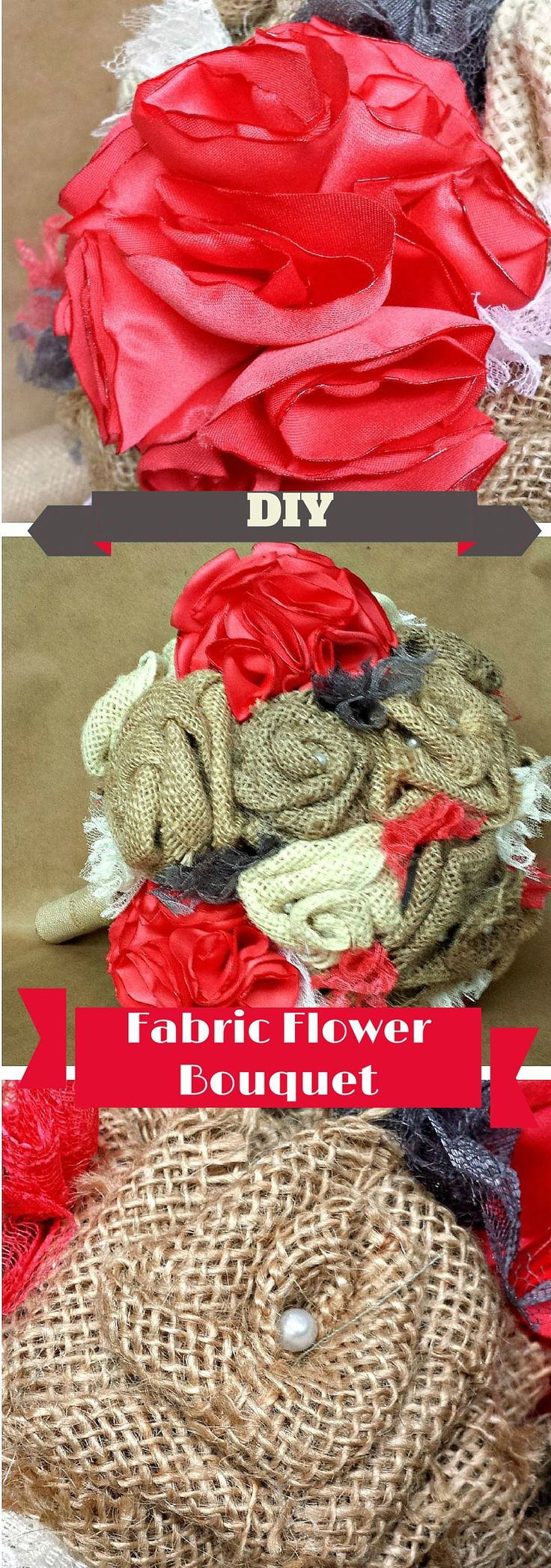 Wedding Flowers Too Expensive : Best ideas about fabric flower bouquets on