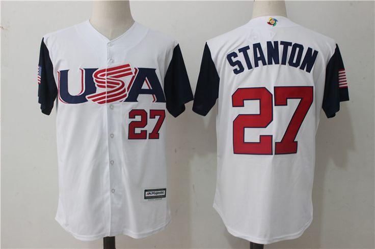 60aa68c87 ... Authentic Jersey Mens USA Baseball Giancarlo Stanton Majestic White  2017 World Baseball Classic Jersey Mens USA Baseball Giancarlo ...