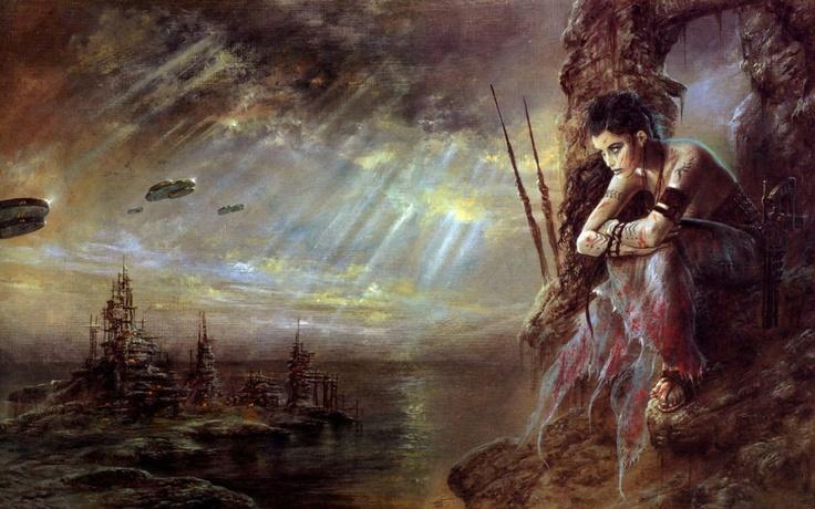 Sci Fi Fantasy Art | luis royo sci fi fantasy art dark women wallpaper | 1920x1200 | 35853 ...