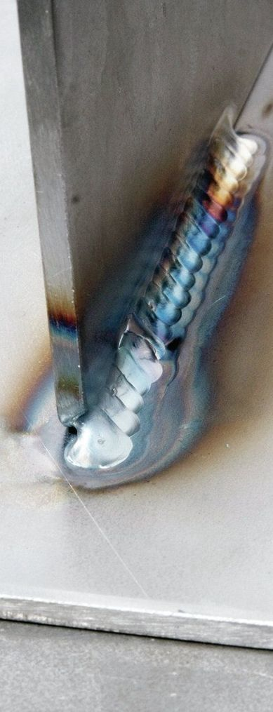 TIG welding process for joining of T-joints.