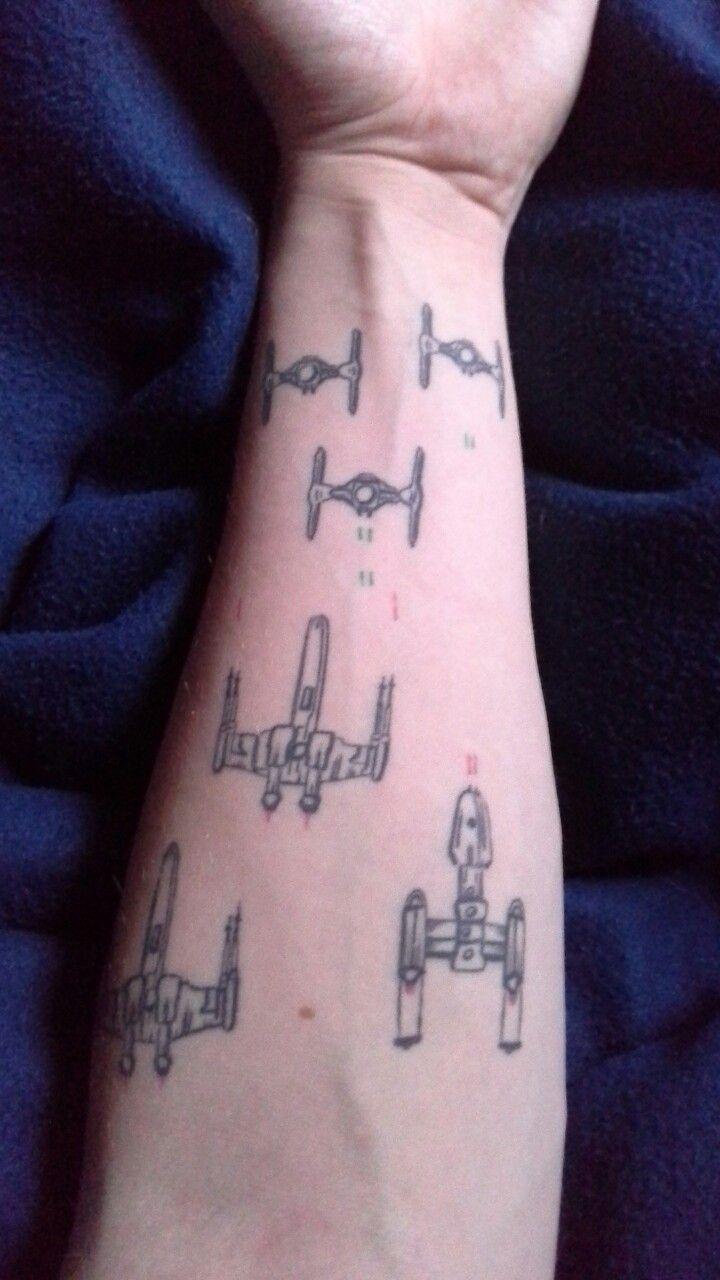 Star Wars Tattoo X Wing Y Wing Tie Fighter Tattoo Pinterest