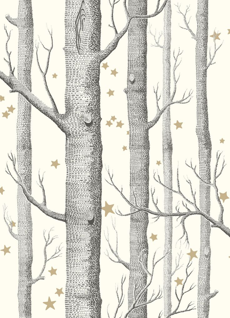 Cole & Son Whimsical Wallpaper Collection Woods and Stars in Black and White wallpaperdirect