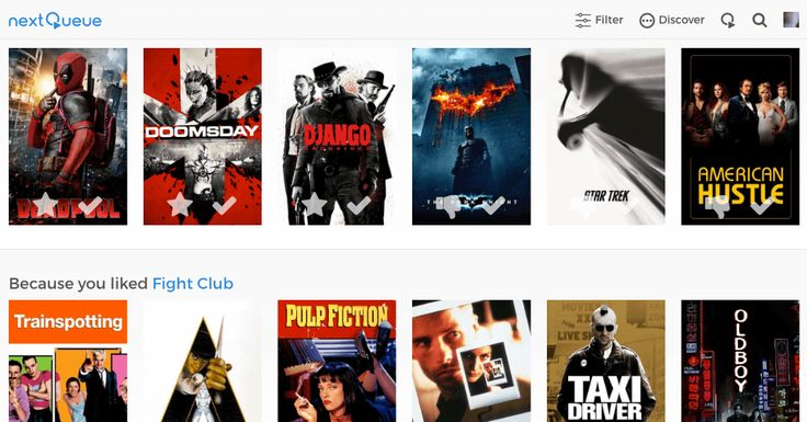 NextQueue  Personalized movie recommendations across all services.