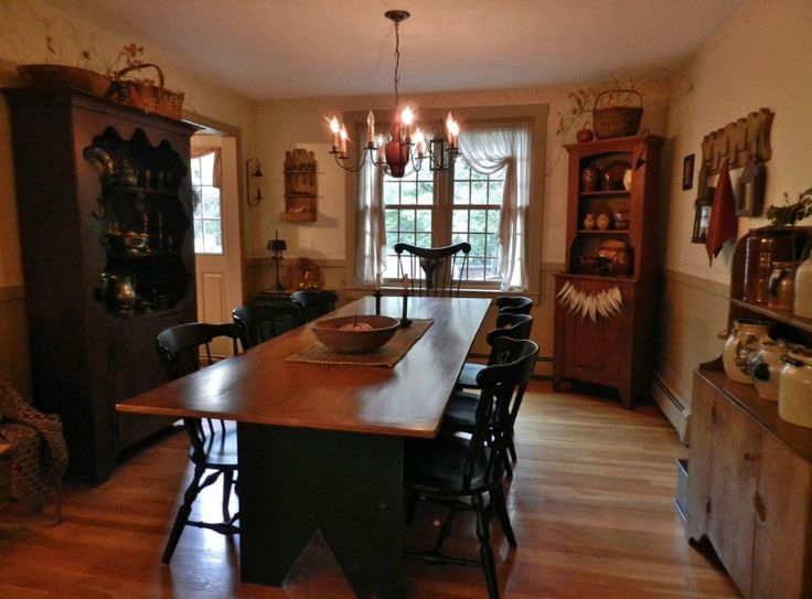 17 best images about primitive dining rooms on pinterest for Primitive dining room furniture