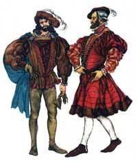 Мужской костюм эпохи возраждения в италии
